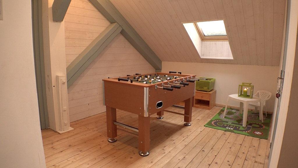 salle de jeux à l'étage